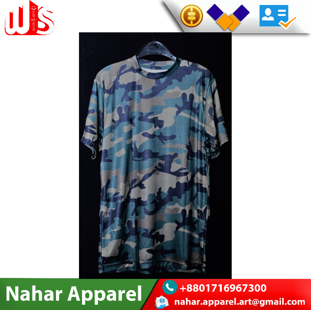 Camo Design All Over Sublimation Printed T Shirt Buy Latest T