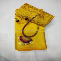 Superb Fashionable Indian Women Wear Printed Traditional Looking Bollywood Designer Worked Tussar Silk Sarees In Surat