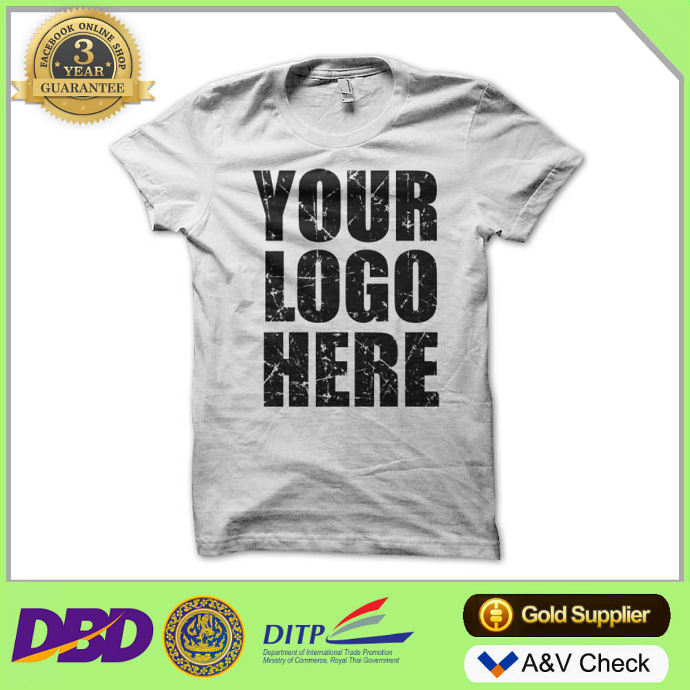 Wholesale Men T Shirt 100% Cotton Tshirt Printing with Your Own Design t-shirt bangkok thailand