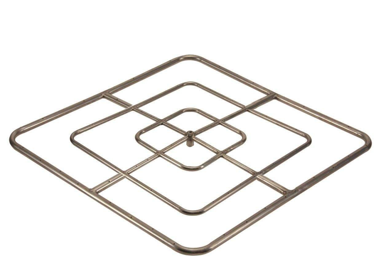 Hearth Products Controls (HPC) Square Stainless Steel Fire Pit Burner (FRSSQ-48-NG), 48x48-Inch, Natural Gas