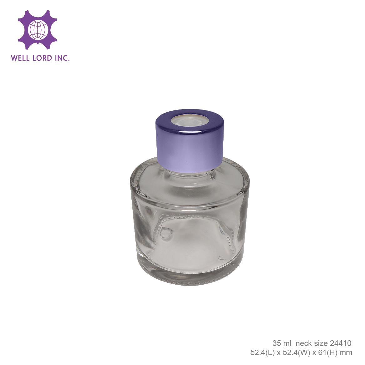 High performance 35ml round cylinder customize empty reed diffuser glass bottle