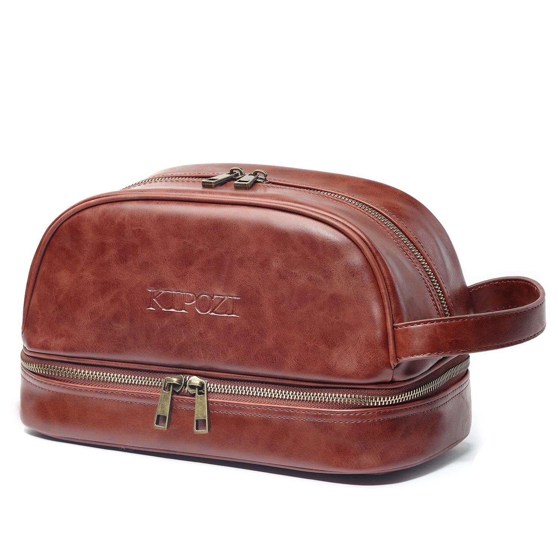 fa45de35d4 Get Quotations · KIPOZI PU Leather Travel Bag
