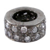925 Sterling Silver Pave Diamond Spacer Finding Handmade Jewelry