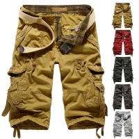 cargo shorts - Men's Military Army Combat Trousers Tactical Work Pocket Camo Pants Cargo Shorts