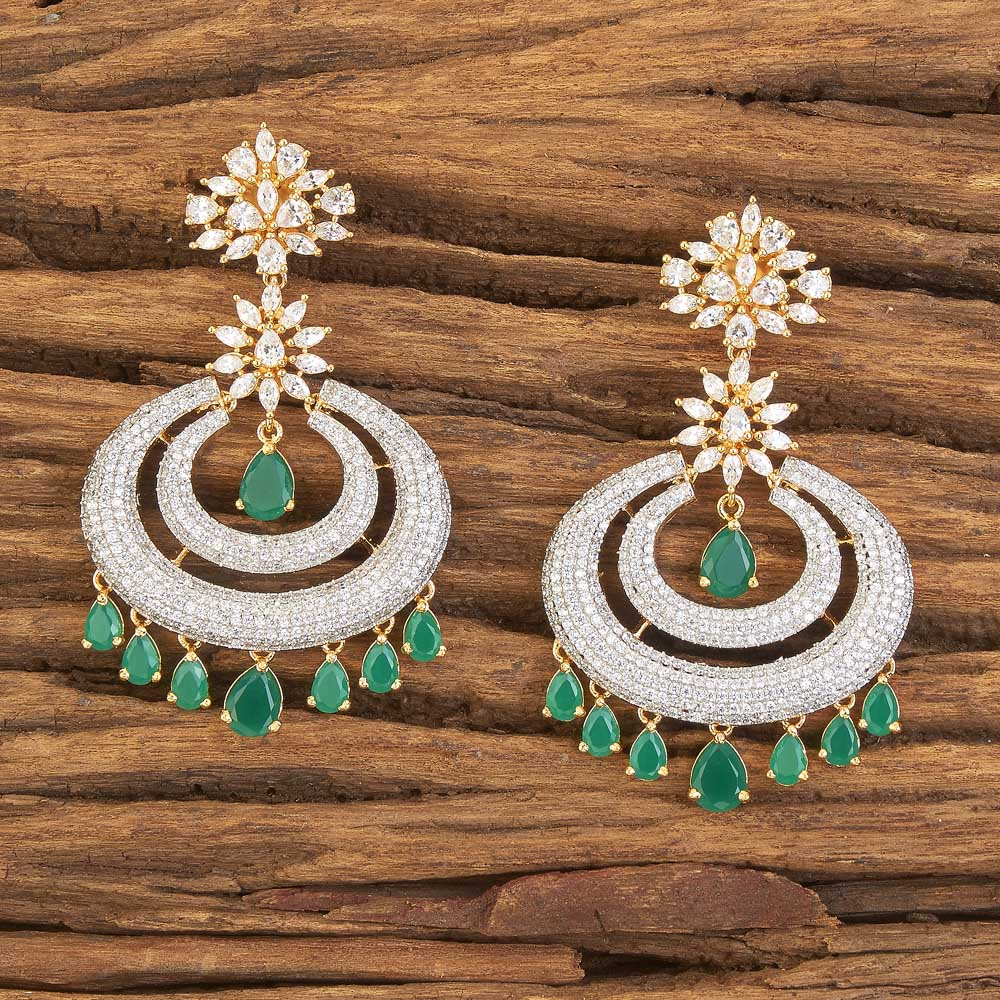 2 tone plated Imitation Classic Earring 58394 Green