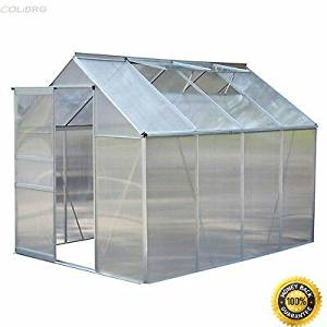 COLIBROX-- 8.2x6.2Ft Greenhouse Aluminum Frame All Weather Walk-In Heavy Duty Polycarbonate Aluminum Frame Greenhouse Heavy Duty Walk-In Polycarbonate Nursery Garden