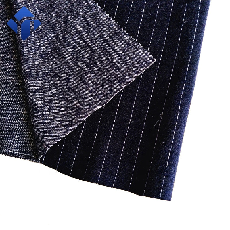 Woolen strip yarn dyed fabric for men suit <strong>material</strong>