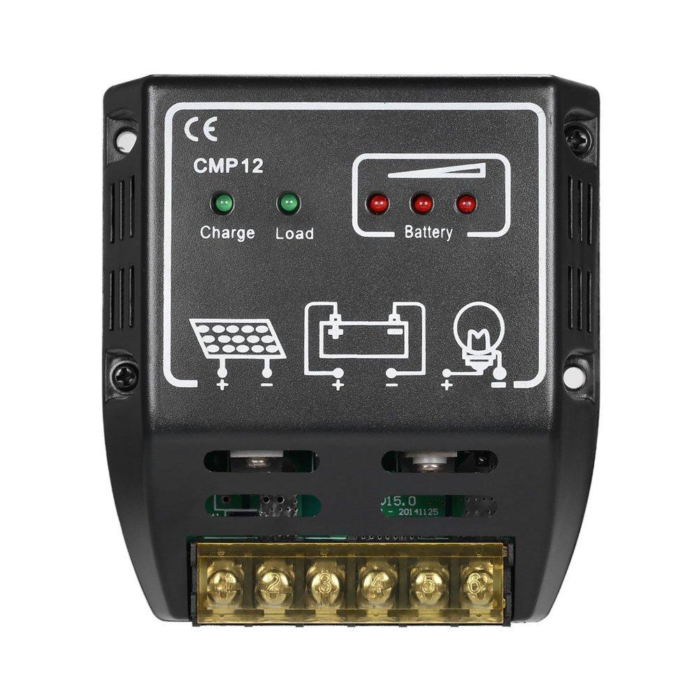 GXG-1987 CMP-12 20A 12V/24V Solar Charge Controller Solar Control Regulator Solar Panel Battery Regulator