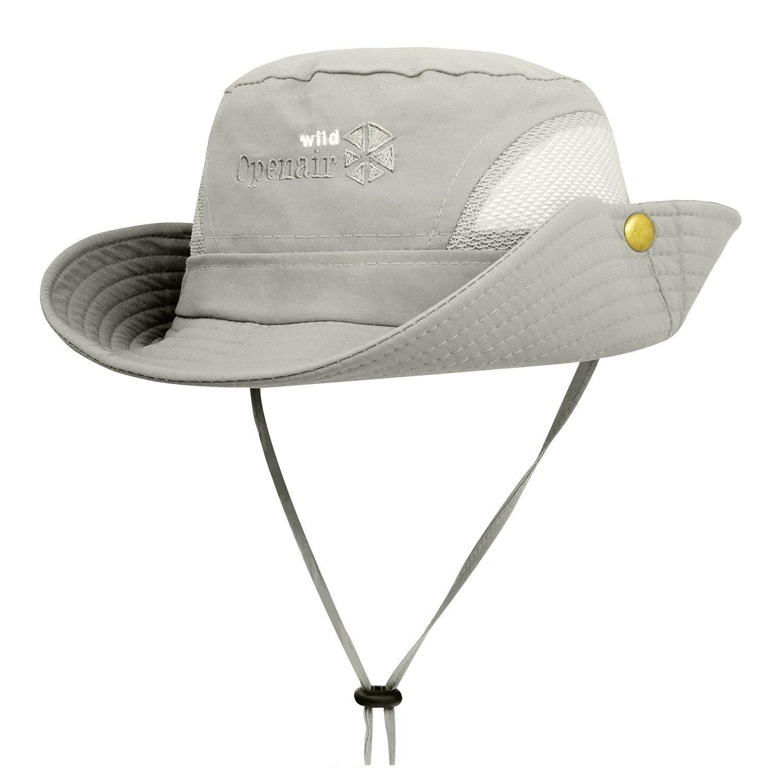 83182537ce924 Get Quotations · Lamdgbway Quick-Dry Safari Sun Hat Unisex Summer UV  Protection Bucket Mesh Cap Boonie Hat