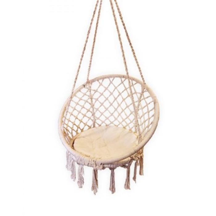 outsunny wooden chair seat patio cream swing hammock seater lawn bench garden