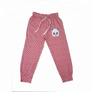Printed pattern 100% cotton girls trousers