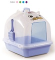 870-A Semi-Transparent White Dome Cover Cat Litter Pan with Scoop