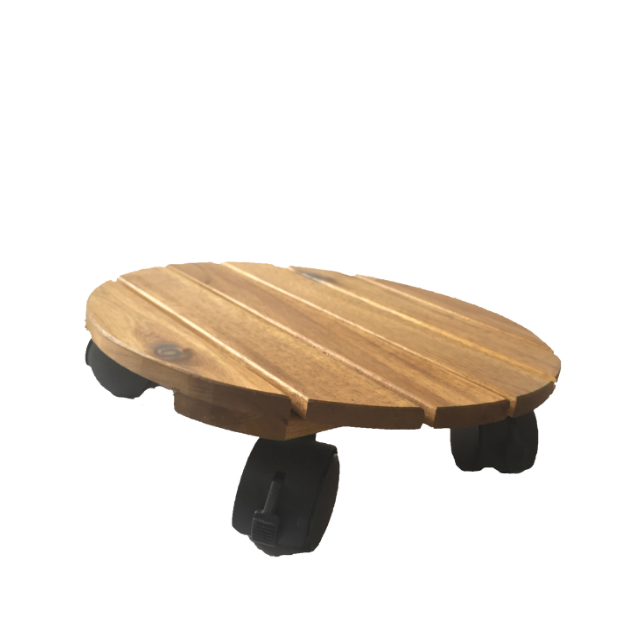 Wood Plant Stand With Wheels Flower