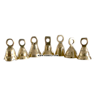 Many designs Indian small brass bells wholesale golden silver bell