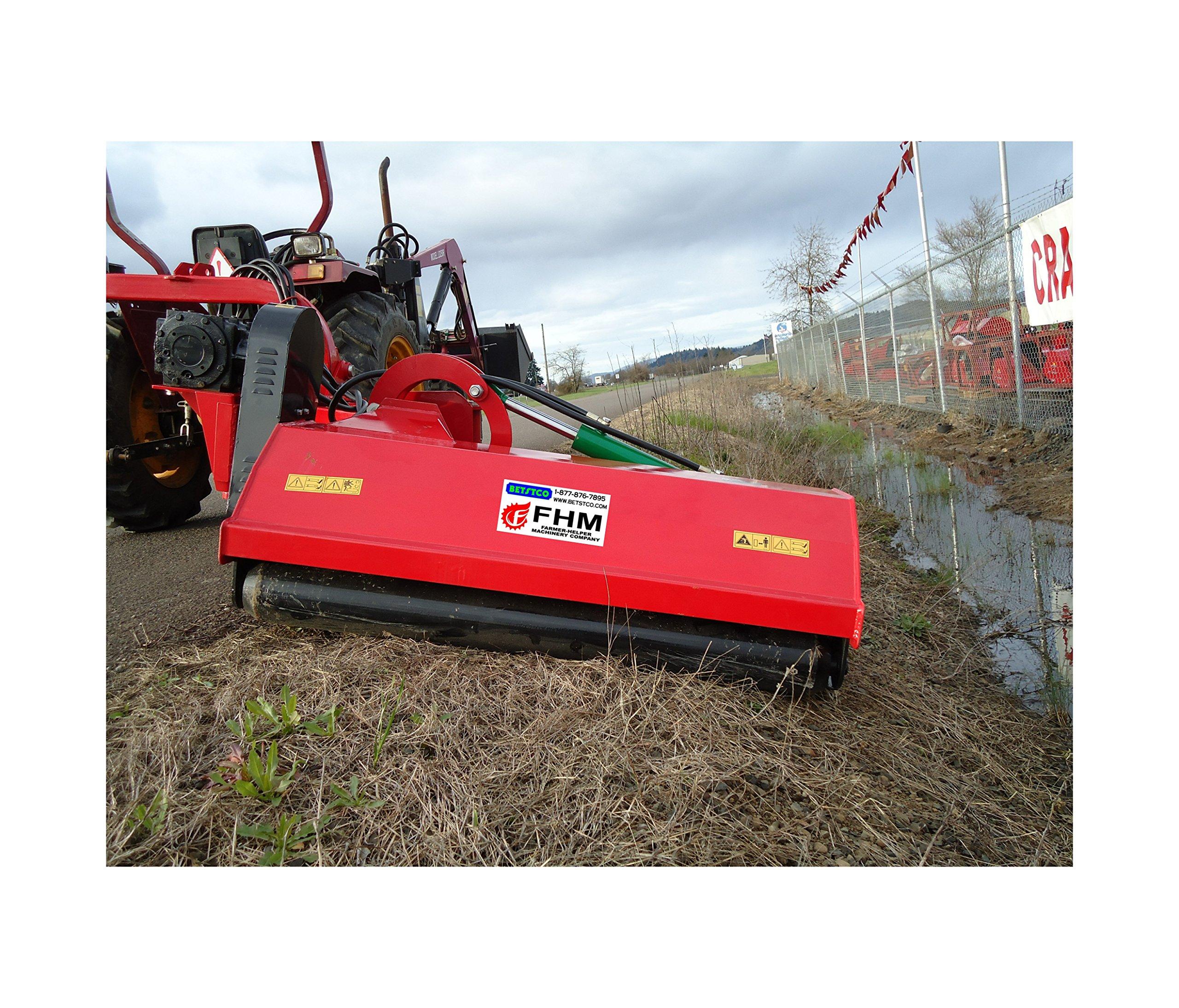 """Farmer Helper 63"""" Ditch Bank Flail Mower Cat.II 3pt 40hp~80hp PTO (FH-AGF160) w/Hammer Blades"""