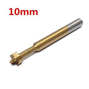 10mm Titanium Coated Hinge Hole Saw Reamer Woodworking Hole Saw Forstner Drill Bit