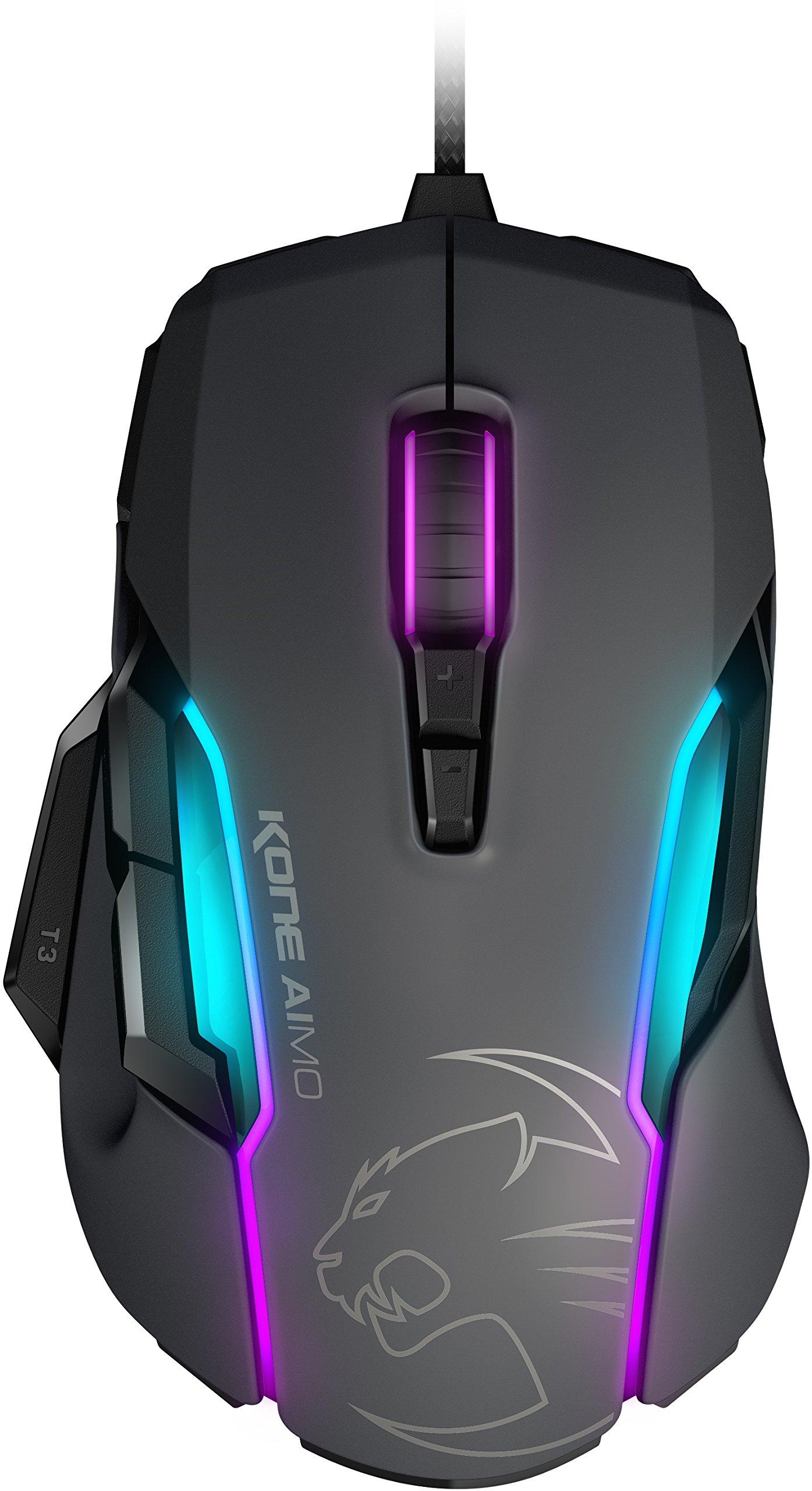 ROCCAT KONE AIMO - RGBA Smart Customization Gaming Mouse, Grey