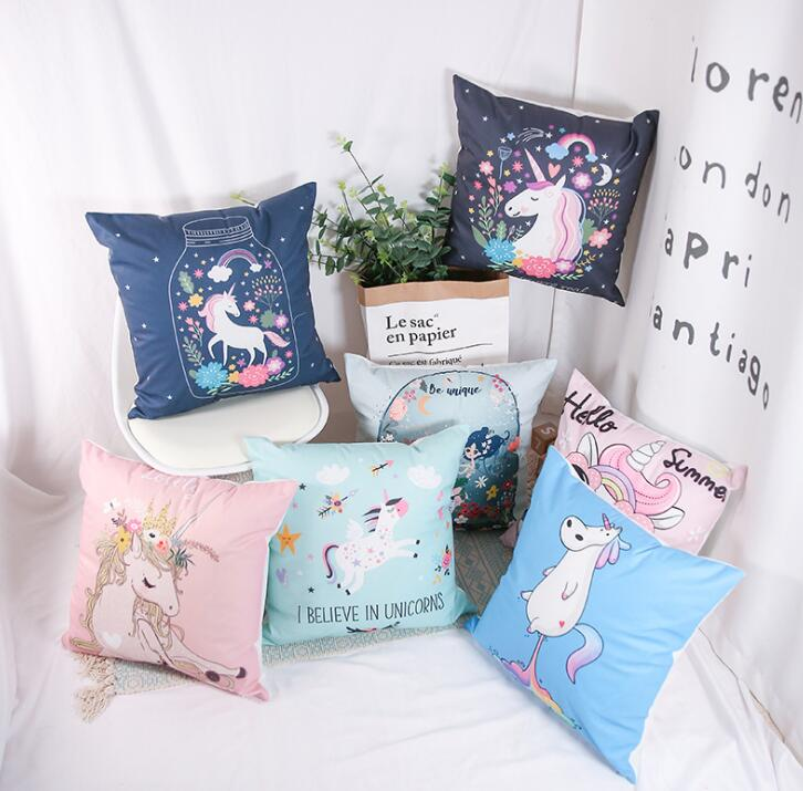 2018 Home Decor Majestic Unicorn Pillow Cover Hot Sale Horse Pony Pillowcase With One Side Printing