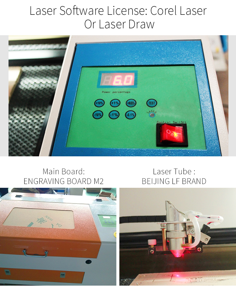 Great feature CO2 metal laser cutting machine/acrylic laser engraving machine on sale
