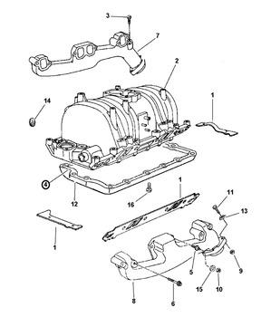 05017208aa-gasket-intake manifold pan for dodge dakota, durango, ram 1500,