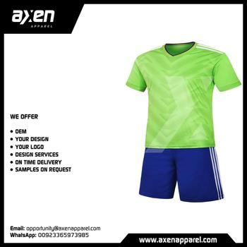 15c79c829 Axen Soccer Football Kits Jerseys Uniforms Custom Logo Printing Sublimated  OEM Moq Sample Manufacturer Cheap High