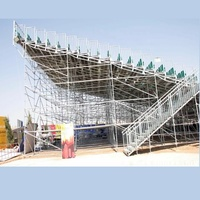 Fast build steel dis mountable bleacher for stadium grandstand, church, concert show with plastic seats