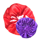 100% Silk Satin Custom Bonnet Sleeping Cap With Fancy Logo