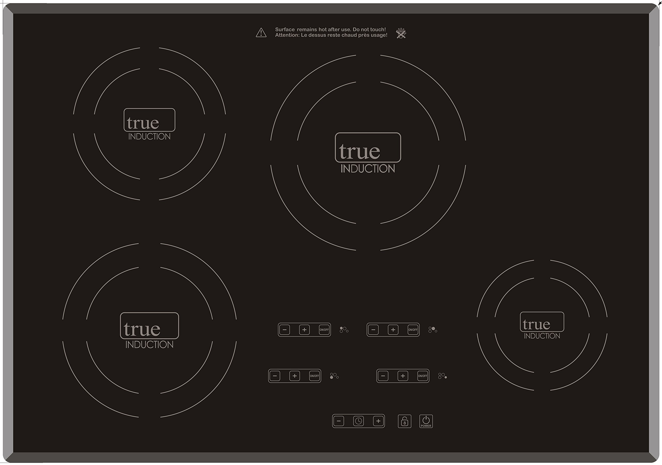 "True Induction 30"" Electric Built-in Induction Cooktop Stove,4 Burner,7400W"