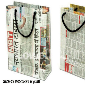 Newspaper Bag Eco Friendly Recycle Ping Green Foldable Product On Alibaba