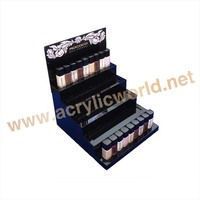Acrylic mac lipstick storage/acrylic make up cosmetic display stand / rotating