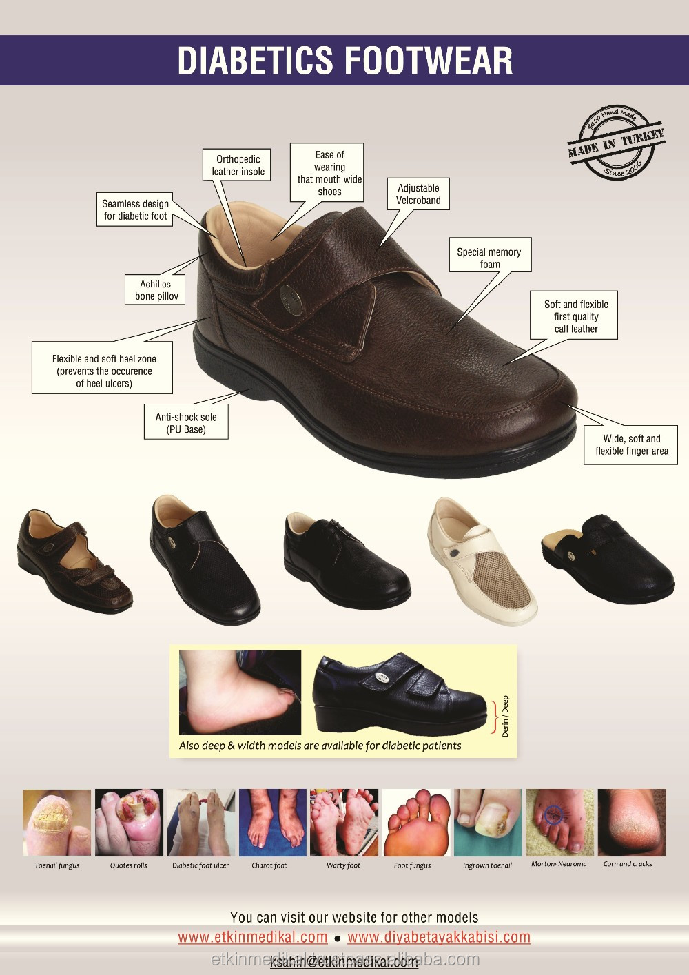 Product Genuine Diabetic Model Footwear Comfort Leather Best Orthopedic Slippers 8w5BqqI