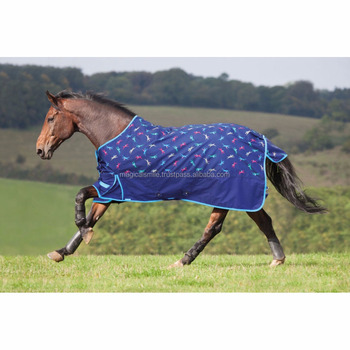 Horse Rug Shires Lite Weight Jockey Print Waterproof All Size