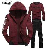 3 Pieces Sets Jacket Pant hoodies Tracksuit Men Sporting Brand Clothing Casual Track Suit Men