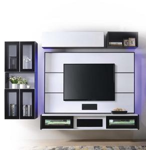 Modern Black & White Floating Wall Mounted Living room TV Cabinet Designs Furniture