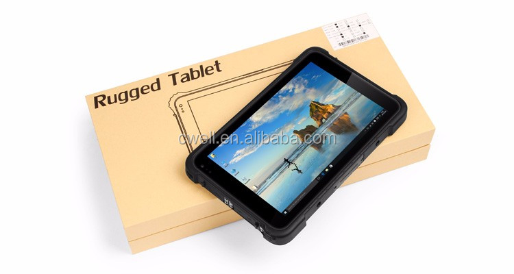 8 Inch Screen 32GB 64GB IP67 Waterproof Rugged 3G WCDMA 4G Lte For Windows 10 Tablet Barcode Scanner