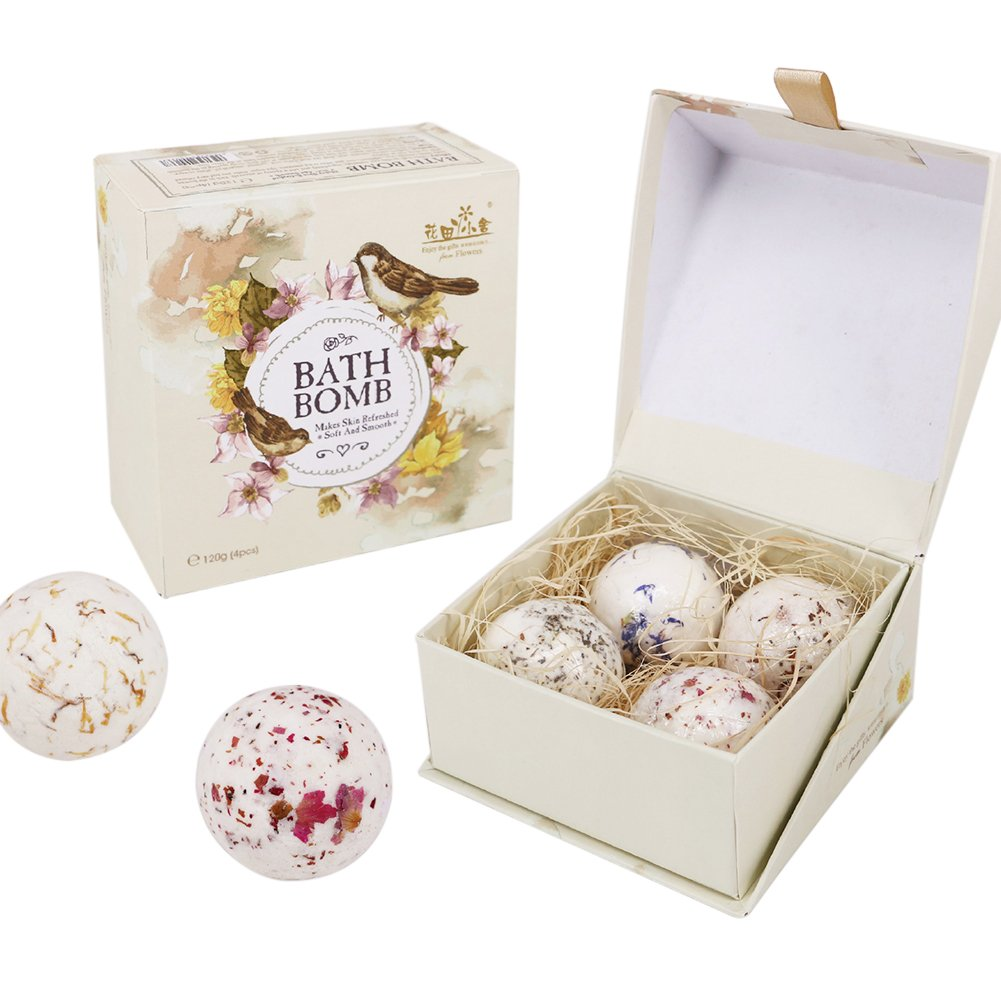 Get Quotations Fandian Pack Of 4 Bath Bombs Gift Set For Women Girlfriend Birthday Natural Essential Oil