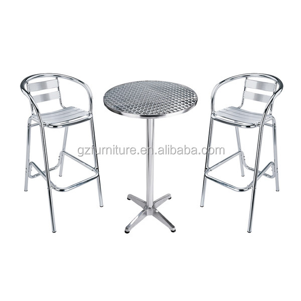 Cool Low Cost Aluminium Outdoor Bistro Dining Chairs High Bar Stools Sets Buy Stainless Aluminum Bistro Chairs Aluminum Bar Height Bistro Set Aluminum Theyellowbook Wood Chair Design Ideas Theyellowbookinfo