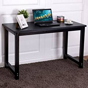 K&A Company Writing Computer Desk Table Student Storage Shelves Kids Room New Furniture Dorm Laptop Wood Corner Drawer Office Shelf Work Unit Black Leg Black
