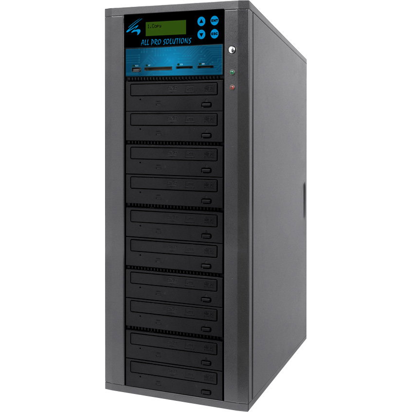 Standalone DVD Duplicator Copier 10 Drives w/Flash Geheugenkaart om Disc Duplicatie (MS/CF/SD MMC/USB)