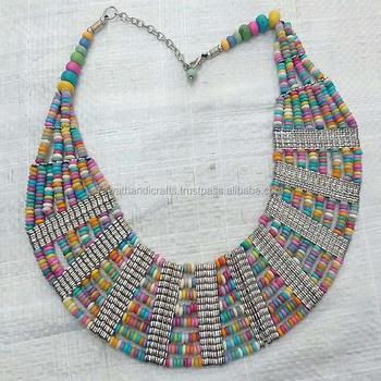 bdbf02c9c082 Collar De Cuentas De Hueso Joyería De Madera - Buy Collar De Cuentas ...