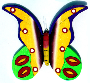 Balsa Butterfly Wooden Wall Art Figurine Handmade Colorful Amazon Rainforest Animals Statues Collectible Artwork Home Decor Buy Wooden