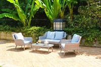 Resin Wicker Rattan garden teak wood furniture Sofa Set General use rattan outdoor furniture
