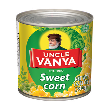Sweet corn canned from Russia