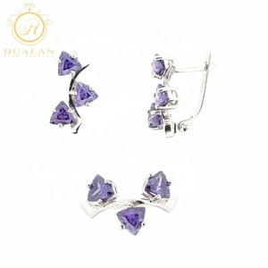 Authentic 925 Sterling Silver With Gemstone Handmade Jewellery Jewelry Silver Set