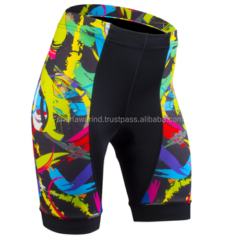 2018 Custom sublimation logo sublimated padded cycling shorts