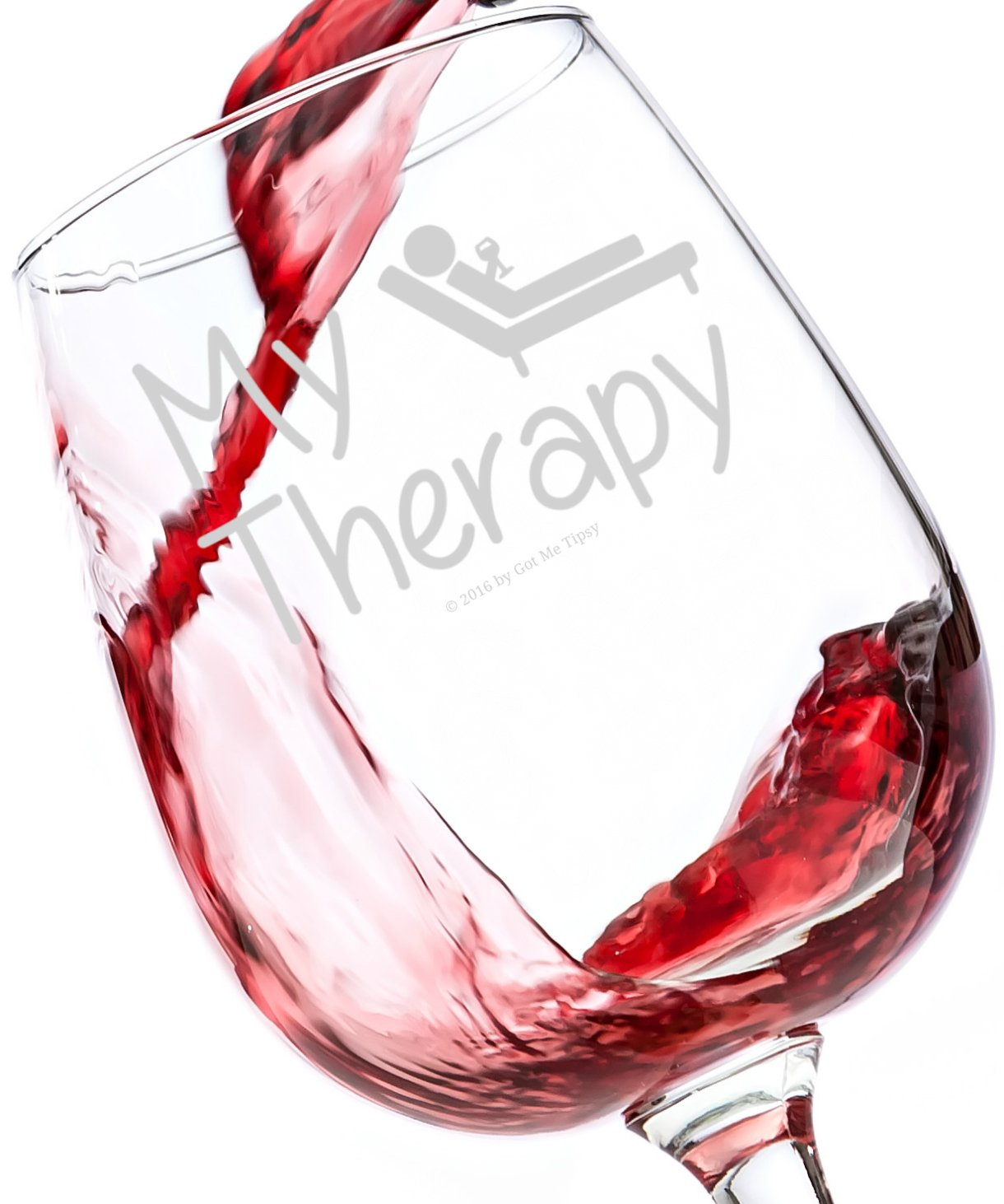 My Therapy Funny Wine Glass 13 Oz