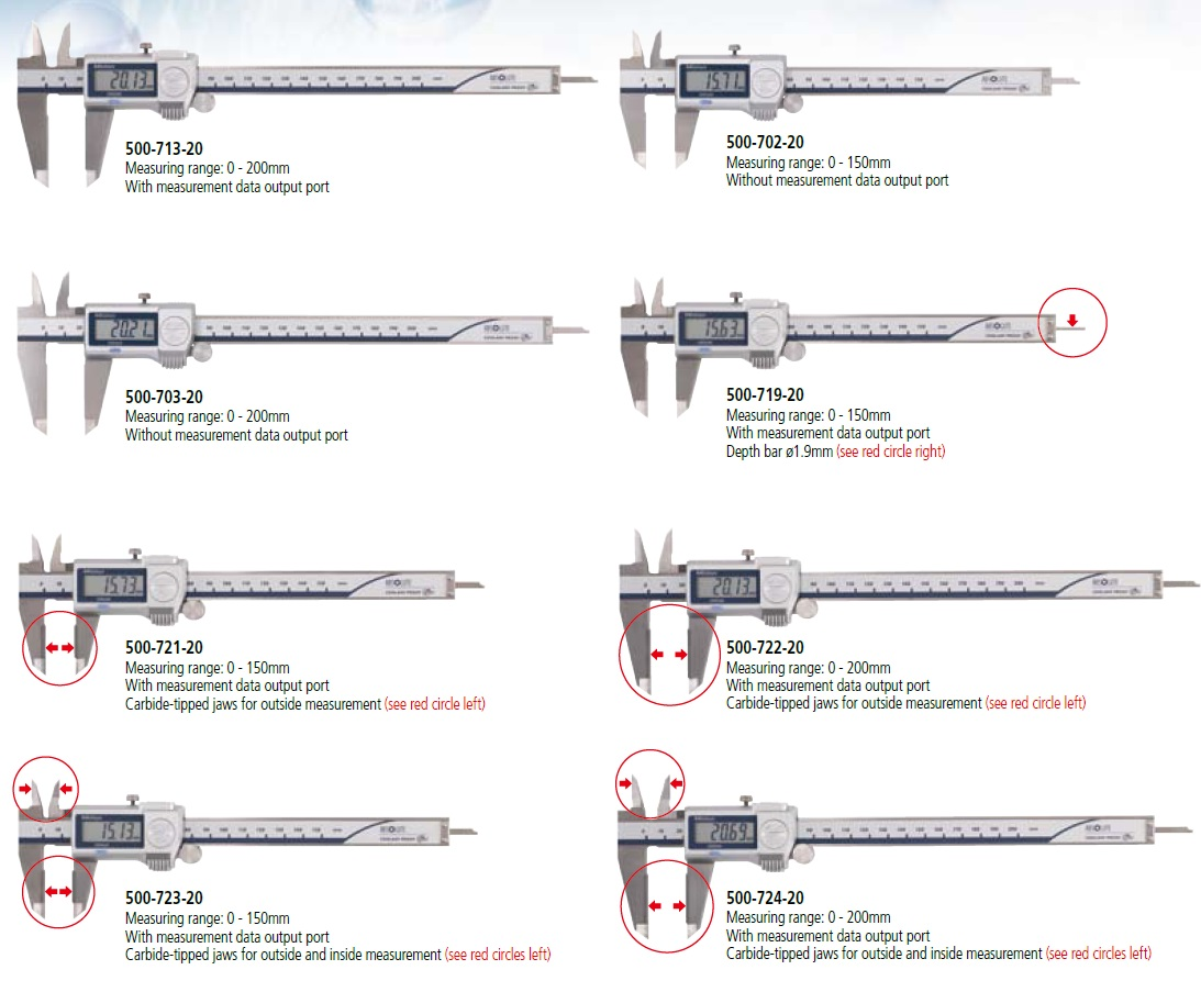 Coolant Proof CaliperSERIES Various Types of Outside Micrometer Set
