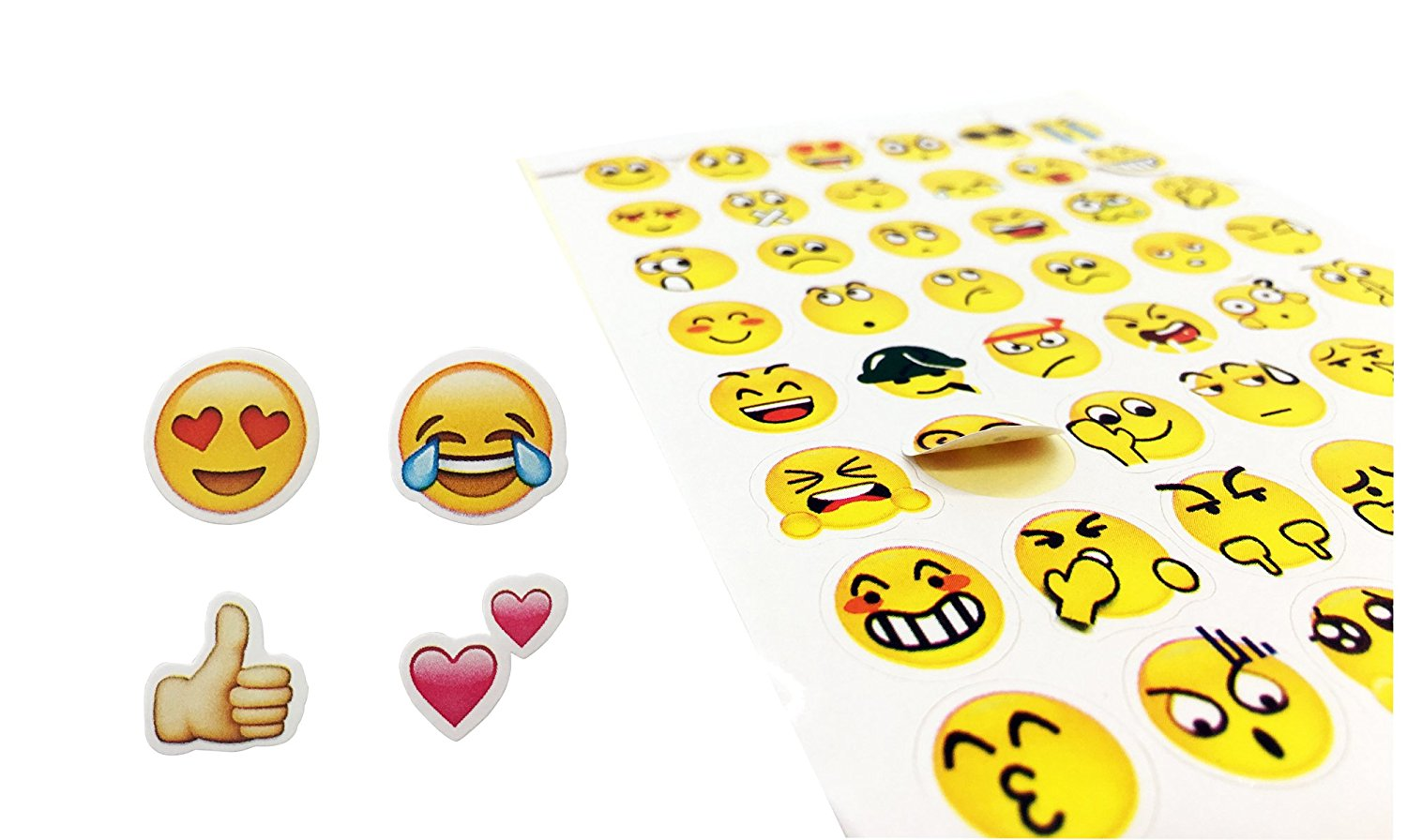 912pcs 19 sheets emoji paper stickers different happy faces removable kids diy stickers funny custom emoji