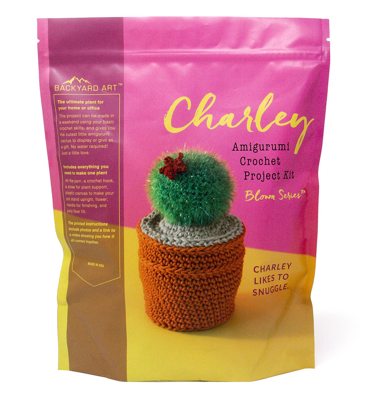 Buy Charley The Cactus Crochet Kit An Amigurumi Diy Craft Project