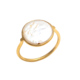 Women Fashion Ring 925 Sterling Silver Mother Of Pearl 18k Gold Plated Handmade Wholesale Ring